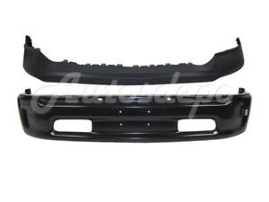 Front Bumper Upper Cap Face Bar Black W Fog Hole For 2013 2017 Dodge Ram 1500