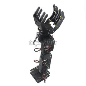 6 Dof Robot Mechanical Arm Claw Hand Clamp Manipulator Frame For Arduino Diy