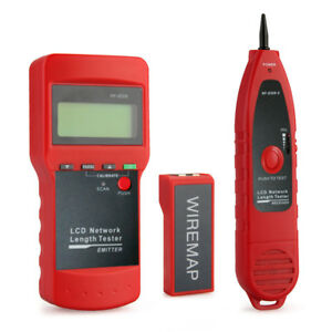 Phone Network Cable Circuit Finder Wire Line Tester Tone Generator Detection Red