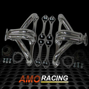 Ceramic Coated Hugger Shorty Headers Fits Small Block Chevy Sbc 283 350 400