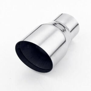 3 Inch Slant Out 2 Inch In Stainless Steel Exhaust Tip Partial Dual Layer Design