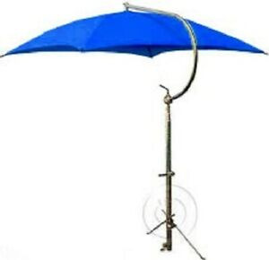 Ford Case Oliver Tractor Umbrella W Frame Mounting Bracket Canvas Blue