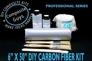 Real Carbon Fiber Fabric Wrapping Skinning 6 X 36 Starter Kit 3k 2x2 Twill