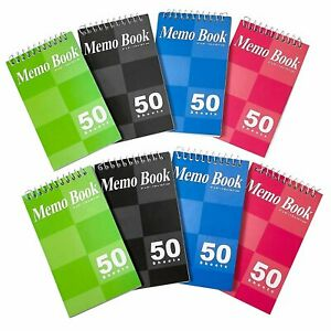 Spiral Notepads 3x5 Small Spiral Memo Pads Top Bounded Memo Books