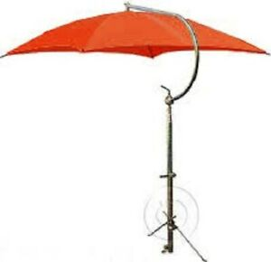 Tractor Umbrella Orange W Frame Mounting Bracket Canvas Perfect For Kubota