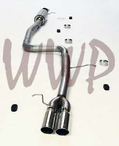 Stainless Steel 3 cat Back Exhaust System Kit 14 19 Ford Fiesta St 1 6l Ecoboost