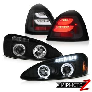 2004 2008 Pontiac Grand Prix Matte Black Halo Projector Headlights Led Taillamps