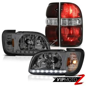 01 02 03 04 Toyota Tacoma Offroad Smokey Red Taillamps Headlamps Bumper Oe Style