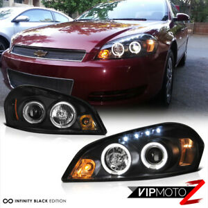 2006 2013 Chevy Impala Halo Led Black Projector Headlight 2006 2007 Monte Carlo