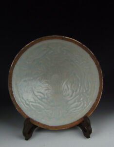 Chinese Antique Qingbai Glaze Ware Porcelain Bowl With Flower