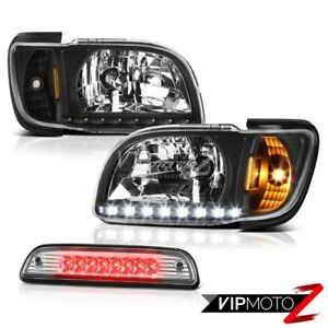 2001 2004 Toyota Tacoma Offroad Roof Cargo Light Inky Black Headlamps Bumper Led