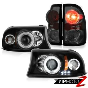Dodge Dakota 97 04 V6 V8 Black Angel Eye Headlights Smoke Rear Brake Lamps Light