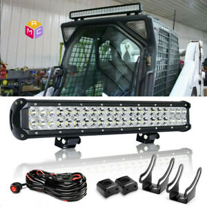 20 Led Light Bar Skid Steer Loader New Holland Case John Deere Bobcat Gehl