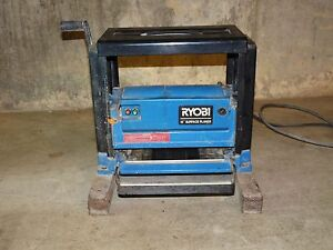Industrial Woodworker Carpenter Ryobi 10 Wood Planer Model Ap 10