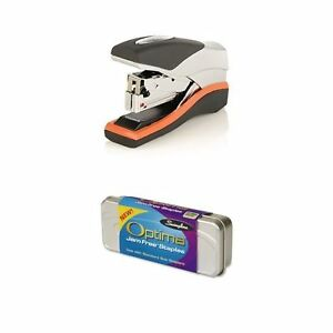 Swingline Stapler Optima 40 Compact Low Force 40 Sheets Black silver s7