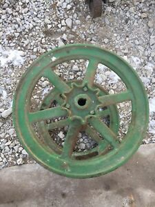 John Deere Flywheels And Rare Pulley Gear Antique Hit And Miss Gas Engine