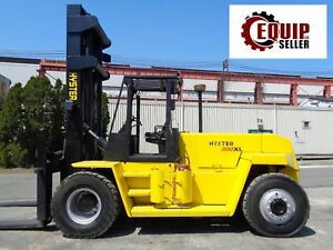 Hyster H300xl 30 000lbs Forklift Boom Lift Truck Propane Side Shift