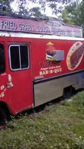 Food Truck Fully Equipped Trailer Bbq Burgers Wings Turn Key Ready To Work