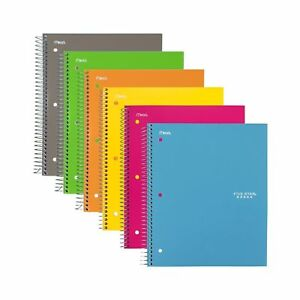 Five Star Spiral Notebooks 3 Subject College Ruled Paper 150 Sheets 11 X