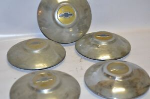 Chevrolet Hub Cap 10 Wheel Cover Dog Dish 1950 s Vintage Set Of 5