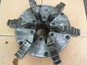 Used Buck 8 6 jaw Lathe Chuck W Lo Type Back Plate cd
