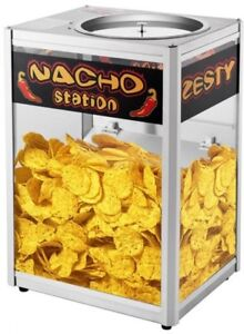 Nacho Chip Warmer Commercial Grade Station Merchandiser 10 lbs Capacity Silver
