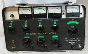 Measurements Standard Frequency Meter Model 760