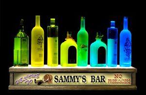 24 Led Liquor Bottle Display Bar Display Shelf Personalized No Freeloaders