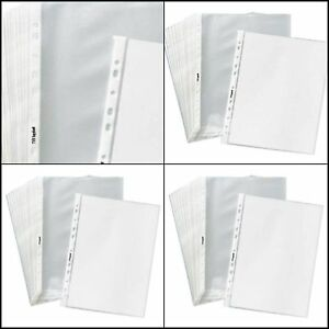 400 Sleeves 11 Hole Clear Plastic Sheet Page Office Document Protectors 8 5x11