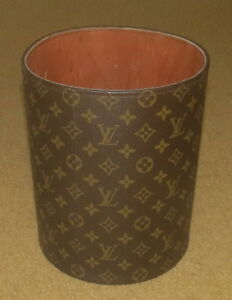 Louis Vuitton Rare Vintage Waste Basket Trash Can Desk Accessory