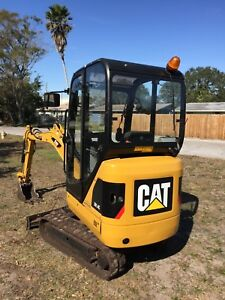 2013 Caterpillar 301 4c Mini Excavator Enclosed Cab Dozer Blade Low Hours