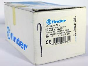 10 Each Finder Plug in Multifunction Timer 85 32 0 024 Nos Nib
