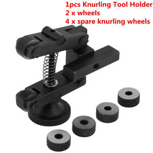 Knurling Knurler Tool Holder Linear Knurl Tool Lathe Adjustable Shank 4pcs Wheel