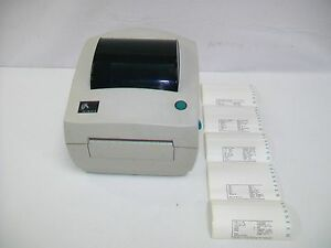 Zebra Lp2844 z Thermal Label Printer Part Number 284z 20300 0001 1