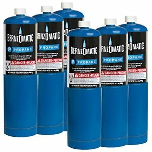 Bernzomatic Blue Propane Cylinder Torch Tank 6 Pack
