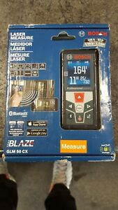 Bosch Glm 50 Cx 165 Ft Laser Measure With Bluetooth Full color Display