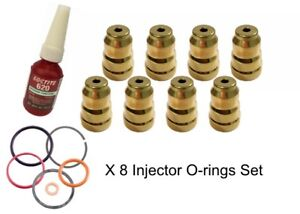 For 7 3 Ford Diesel Injector Cup sleeve Repair Kit Sleeves orings And Loctite
