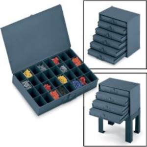 Durham 21 compartment Metal Extra Drawer Storage Case Large