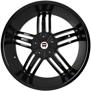 4 Gwg Wheels 20 Inch Black Spade Rims Fits Jeep Grand Cherokee 2005 2013