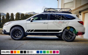 Sticker Decal Side Door Stripes For Subaru Outback Offroad Roof Rack Bike Sport