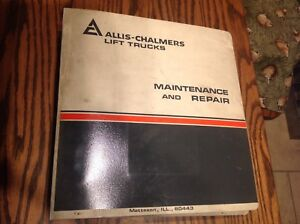 Allis Chalmers Lift Truck Maintenance And Repair Forklift Used