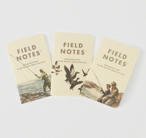 Brand New Sealed Field Notes Abercrombie Fitch Heritage Print Paper Notebooks