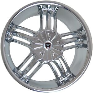 4 Gwg Wheels 24 Inch Chrome Spade Rims Fits Dodge Charger Srt Hellcat 2005 2018