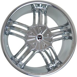4 Gwg Wheels 24 Inch Chrome Spade Rims Fits Dodge Charger Daytona R T 2005 2007