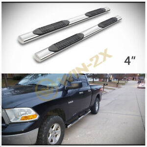 2pcs 4 Oval S S Side Step Nerf Bars Fit 09 18 Dodge Ram 1500 Quad Exten