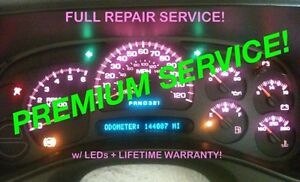 Repair Service 2005 Escalade Denali Dash Instrument Gauge Cluster Led 04 05