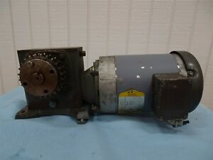 Baldor Vm3554t Electric Motor 1 5hp 1725rpm 3ph W Boston Reducer