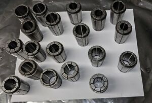 Lot Of 19 Nikken Lyndex Sk 25 Sk25 Collets All Different For Cnc Drill Bore