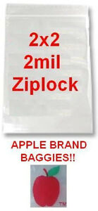 5000 Apple Brand Baggies 2x2 2mil Clear Ziplock Bags 5 000 2 2020 2 x2 2 Bag