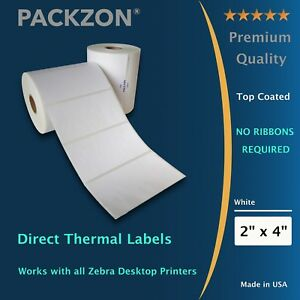 12 Rolls 4x2 Direct Thermal Shipping Barcode Labels 700 Roll Zebra 2844 Zp450